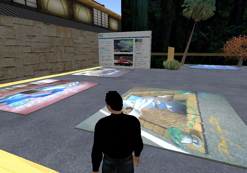 Streetpaintingtv in 3D Virtual World 060210_001