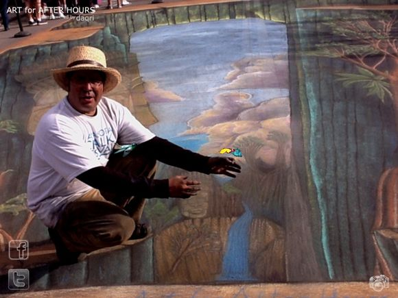Augmented Reality Comes to 3D Chalk Art Events by Art for After Hours
