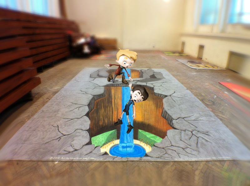AfAH ACappetto _Mixamo-and-3D-Chalk-Art