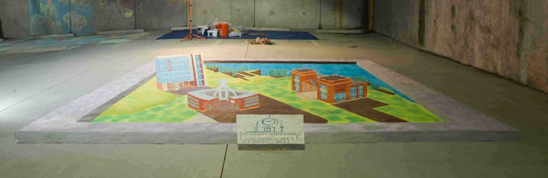 AfAHACappetto finished Lawrenceville 3D chalk art 072414