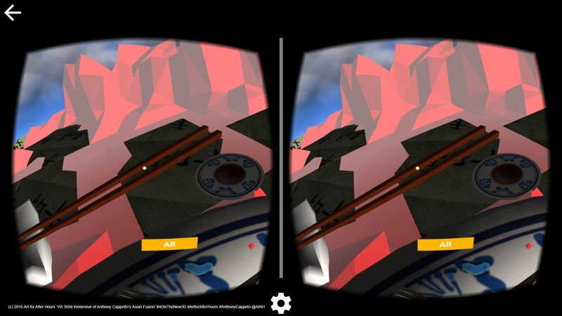 AfAH 4D VR goggles view Asian Fusion 360d Immersive 3 wm