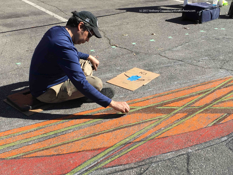 ACappetto AfAH at work on 3D chalk portion Garden Grove_8522wm