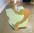 ACappetto 3D Fire Snake with Glass Block 011018
