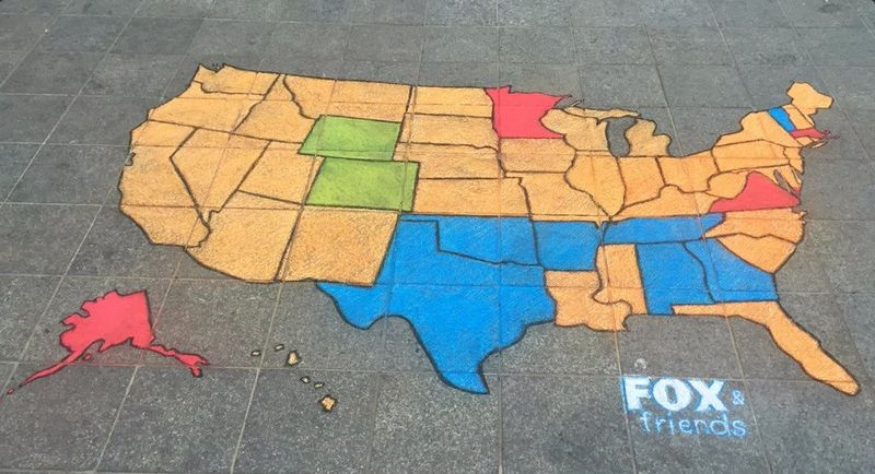 AfAH Super Tuesday Chalk Art Segment Map 030316