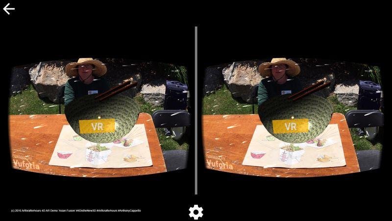 AfAH 4D AR goggles view Asian Fusion 2wm