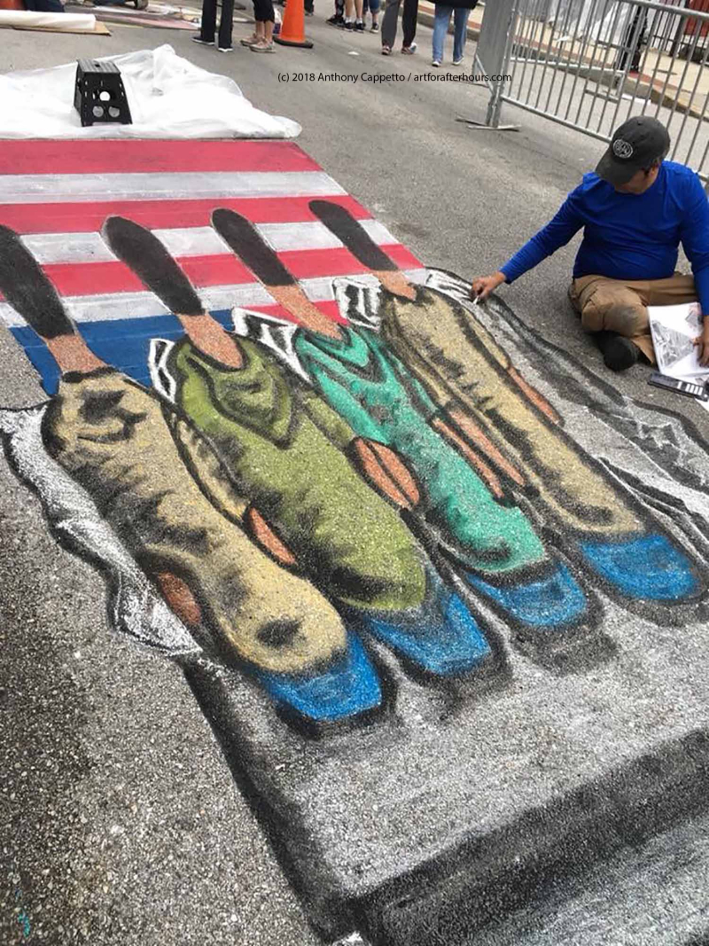 The Business of Street Painting Art: 4D installations with 3D